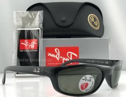 Ray-Ban Predator RB4115 601/9A Sunglasses Black Green Polari