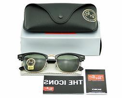 Ray-Ban RB3016 CLUBMASTER CLASSIC W0365 Black, Green Classic