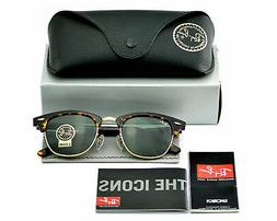 Ray-Ban RB3016 Clubmaster Classic W0366 Tortoise Frame/Green