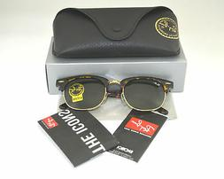Ray Ban RB3016 Clubmaster W0366 Tortoise Frame/Green Classic