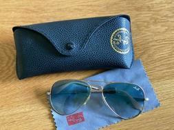 Ray Ban RB3025 001/3F 55-14 2N Aviator Sunglasses - Light Br
