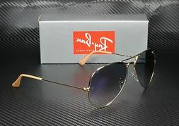 RAY BAN RB3025 001 3F Aviator Gold Crystal Gradient Blue 62