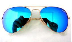 Ray Ban - RB3025 112/17 Aviator Blue Flash Lenses Sunglasses