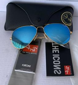 Ray Ban Rb3025 Gold Aviator Blue Gradient 58mm ON SALE💥