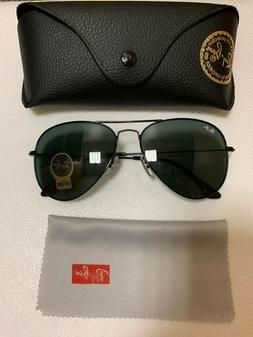 Ray-Ban RB3026 Unisex Aviator Sunglasses with Black Frame an ea486015f0