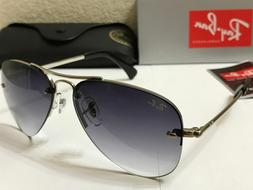 RAY BAN RB3449 003/8G Highstreet Sunglasses Silver / Grey Gr