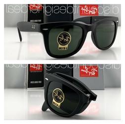 Ray-Ban RB4105 Folding Wayfarer Sunglasses 601S MATTE Black