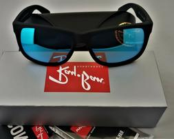 Ray Ban RB4165 622/55 JUSTIN Matte Black/ Sunglasses BLUE MI