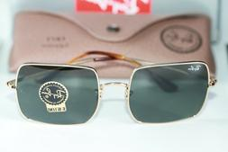 Ray Ban SQUARE Sunglasses RB1971 914731 Gold Frame W/ Green