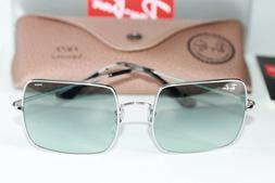 Ray Ban SQUARE Sunglasses RB1971 9149AD Silver W/ Light Blue