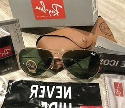 RayBan Aviator Sunglasses RB3026/ LARGE 62mm GOLD Frame / GR