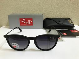 RAY-BAN Sunglasses Erika Polarized Matte Black Frame W/Grey