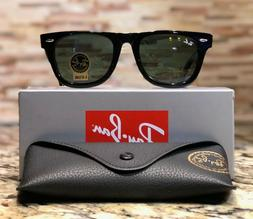 Ray-Ban Wayfarer Sunglasses RB2140 901 50mm Black Frame/G-15