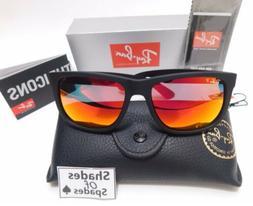 Rayban Justin Model ORB4165 622/6Q 54MM Matte BLK/Red Mirror
