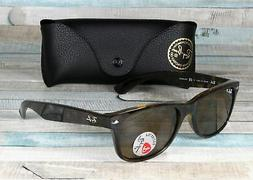 RAY BAN RB2132 902 57 New Wayfarer Tortoise Brn Polarized 55