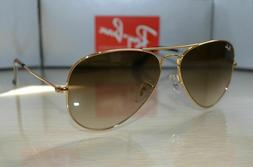 RayBan RB3025 001/51 Size 55 Gold/Crystal Brown Gradient Sun