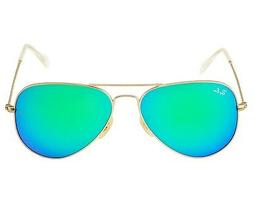 Ray Ban RB 3025 112/19 Gold Green Mirror Lenses Unisex Aviat