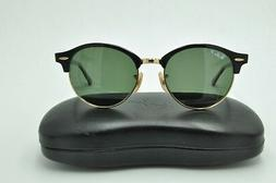 Ray Ban RB 4246 CLUBROUND Sunglasses 901/58 Black Gold Frame