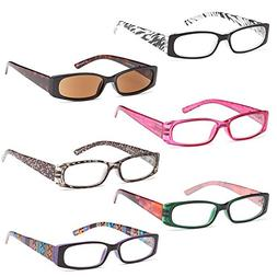 GAMMA RAY READERS 6 Pairs Ladies' Readers includes Sunglass