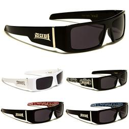 LOCS Rectangular Gangster Black Shades Mens Designer Sunglas