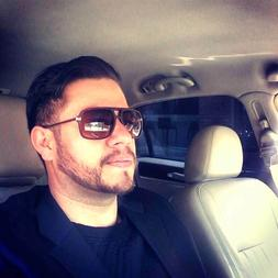 rectangular men fashion sunglasses gradient lens plastic