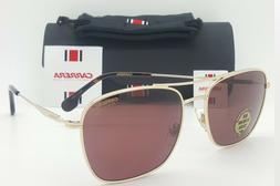 Carrera Red HD Polarized Men's Gold Havana Pilot Sunglasses