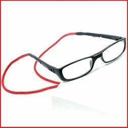 Red strap Magnet Reading eye Glasses Men Women Adjustable Ha