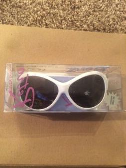 retro banz oval white baby sunglasses
