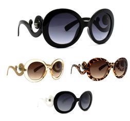 Retro Classic DG Sunglasses Swirls Fashion Round Eyewear Vin