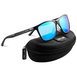 IALUKU Retro Driving Polarized Sunglasses for Men Metal Fram