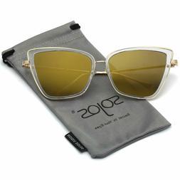 SOJOS Retro Fashion Cat Eye Women Sunglasses Metal Frame Mir