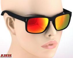 Retro Keyhole Brook Style Sunglasses Colored Mirror Lens Fla