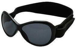 Baby Banz Retro Banz Oval Baby Sunglasses, Midnight Black, 0