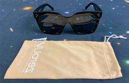 zeroUV Retro Oversized Square Sunglasses for Women with Flat