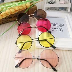 Retro Round Frame Sunglasses Women Men Fashion Vintage Glass