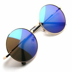 Retro Round Metal Womens Mens Fashion Glasses Frame Lens Sun