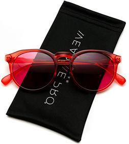 WearMe Pro - Retro Unisex Round Mirrored Fashion Sunglasses