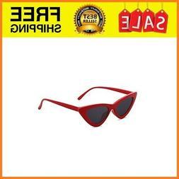 Retro Vintage Cateye Sunglasses For Women Clout Goggles Plas