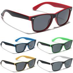 Retro Vintage Horned Rim Square Sunglasses Men Women Fashion