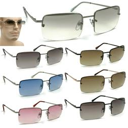 Rimless Rectangular Sunglasses Clear Minimalist Eyewear Smal