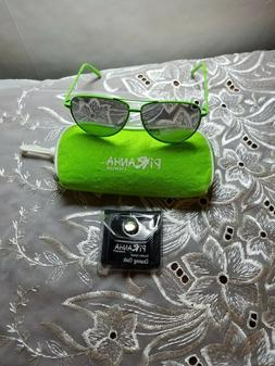 Piranha Rockstar Retro Neon Green Aviator Sunglasses with ca