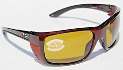 COSTA DEL MAR Rooster 580 POLARIZED Sunglasses Tortoise/Sunr