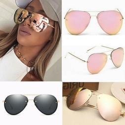 Rose Gold Black Aviator Oversize Sunglasses Polarized Design