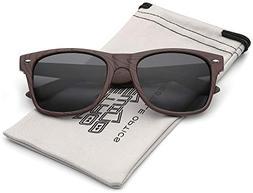 Rose Wood Print Frame Sunglasses