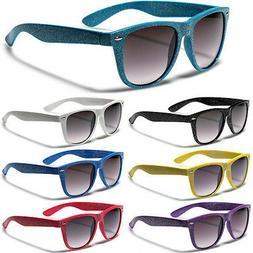 Round Glitter Women Fashion Sunglasses Retro Black White Pin