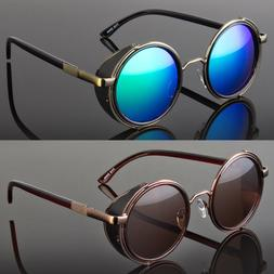a7eeb2945155 Round Metal Sunglasses Steampunk Men Wom.