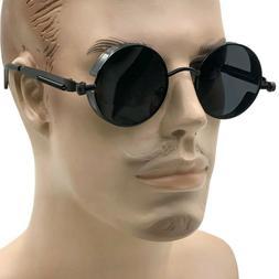 round metal sunglasses steampunk men women fashion