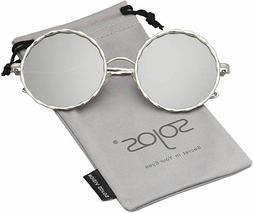 SOJOS Round Oversized Women Sunglasses Textured Circle Shade