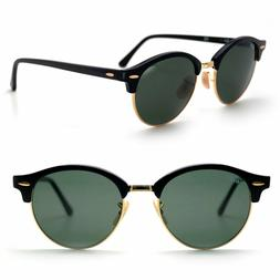 Women's Ray-Ban 'Clubround' 51Mm Round Sunglasses - Black