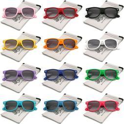 Rubberized Horned Rim Sunglasses Retro Vintage Multi Color M